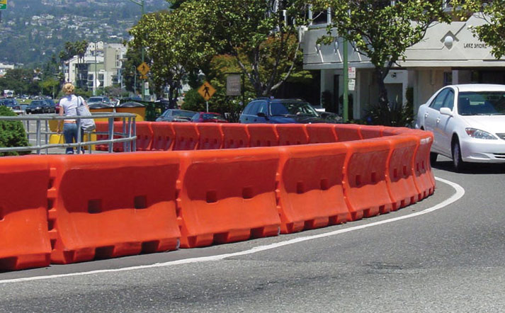 Plastic Road Barrier - Water Filled Traffic Barriers | Fortress Fencing